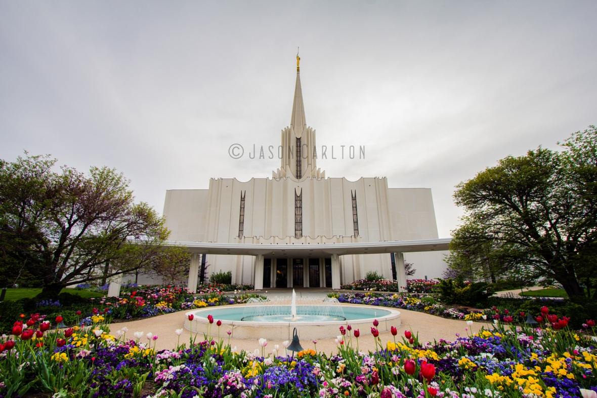 HDR photo of the Jordan River Utah Temple