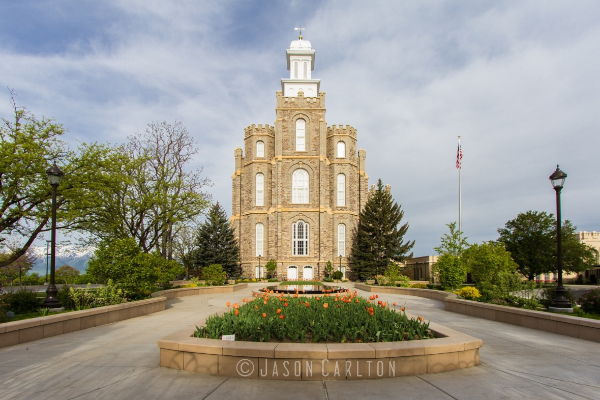 daytime photo of the Logan Utah Temple