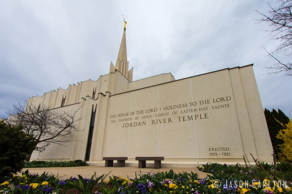 Photo of the Jordan River Utah Temple Holiness to the Lord
