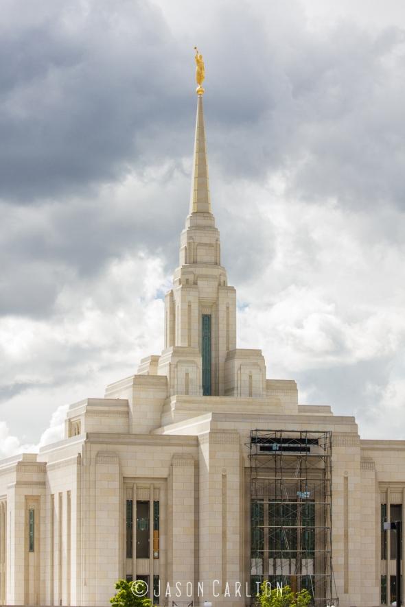 Photo of the Ogden Utah Temple under construction