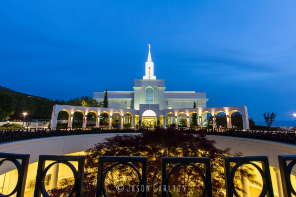 Photo of lower and main entrance of Bountiful Utah Temple