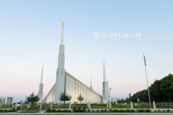 Photo at dawn of the Boise Idaho Temple