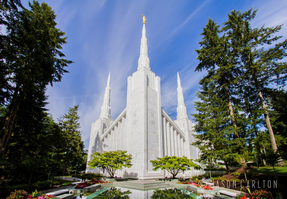 Beautiful Day at the Portland Oregon Temple