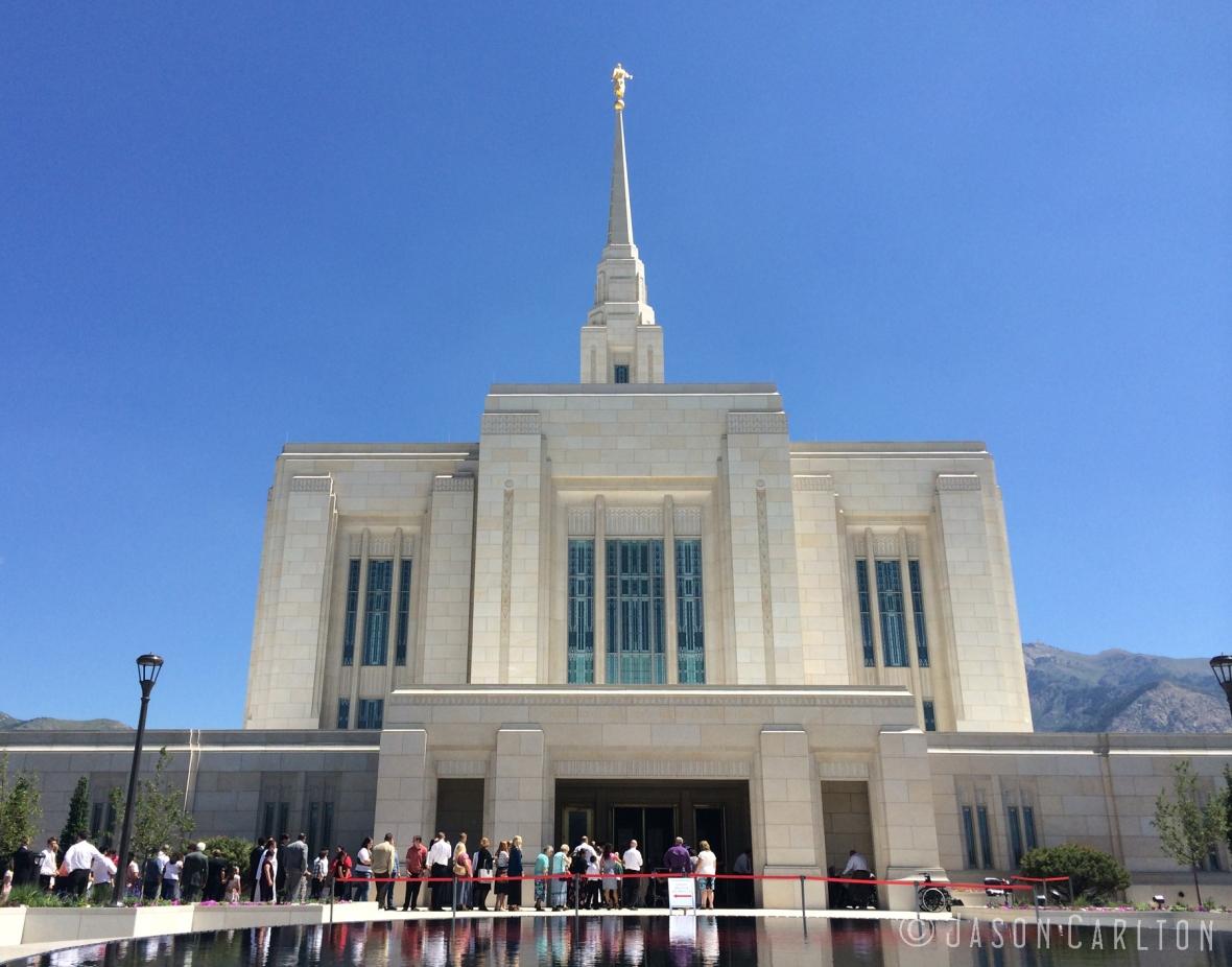Photo of the Ogden Utah Temple Open House Entrance