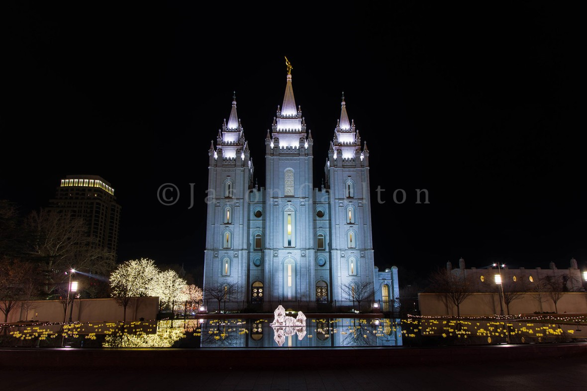 Nativity at the Salt Lake Temple Reflecting Pool
